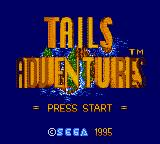 Tails Adventure Game Gear Title Screen
