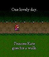 Monster Smash BREW Princess Kate goes out for a walk.