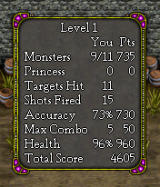 Monster Smash BREW Score screen