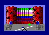 See-Saw Amstrad CPC The monster at the top of the castle has just pushed a green block over the edge