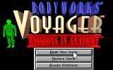 Bodyworks Voyager: Missions in Anatomy DOS Main menu