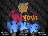 WWF in Your House DOS Main menu