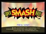 Super Smash Bros. Nintendo 64 Start Screen