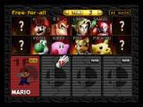 Super Smash Bros. Nintendo 64 Select Your Character