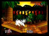Super Smash Bros. Nintendo 64 Link Slashes Yoshi