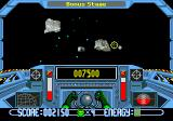 Math Blaster: Episode One - In Search of Spot Genesis In this bonus stage Math Blaster has to destroy asteroids.