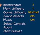 Math Blaster: Episode One - In Search of Spot SNES Options screen.