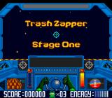 Math Blaster: Episode One - In Search of Spot SNES Trash Zapper: Solving equations to power up the tractor beam.