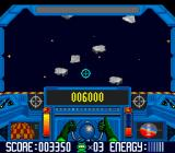 Math Blaster: Episode One - In Search of Spot SNES In this bonus stage Math Blaster has to destroy asteroids.