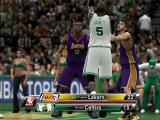 NBA 2K9 Windows Ingame stastics and a replay while waiting for the game to continue.