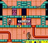 Bugs Bunny: Crazy Castle 3 Game Boy Color Examining the stage while paused.