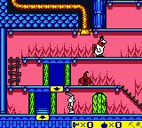Bugs Bunny: Crazy Castle 3 Game Boy Color Foghorn Leghorn patrols the grounds here.