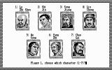 Bandit Kings of Ancient China DOS Character select. (CGA)
