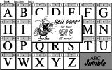 ABC Jumble Atari ST Yes! I did it and in only 22 moves too