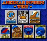 "Roger Clemens' MVP Baseball Genesis Picking a team from ""American Division West"" for player 1"