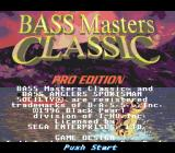 Bass Masters Classic: Pro Edition Genesis Title screen