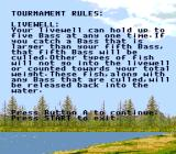 Bass Masters Classic: Pro Edition Genesis Tournament rules