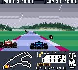 F-1 World Grand Prix Game Boy Color Passing a gaudy red car.