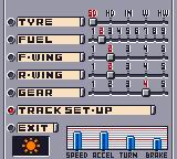 F-1 World Grand Prix Game Boy Color Setting up your car.