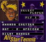 All Star Tennis 2000 Game Boy Color My head is _ON FIRE_!