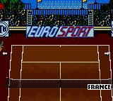 All Star Tennis 2000 Game Boy Color Looking over the French court.