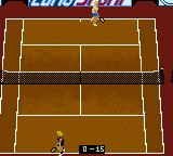 All Star Tennis 2000 Game Boy Color Walking into position.