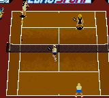 All Star Tennis 2000 Game Boy Color A doubles game.