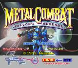 Metal Combat: Falcon's Revenge SNES Title screen.