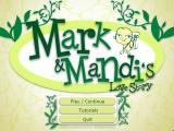 Mark and Mandi's Love Story Windows Main menu