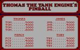 Thomas the Tank Engine and Friends Pinball DOS High score table