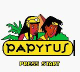 Papyrus Game Boy Color Title screen