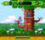 The Wizard of Oz SNES Standing on a tree branch.