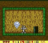 Bugs Bunny in Crazy Castle 4 Game Boy Color Poof! It vanishes. Bugs gets an item.