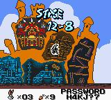Bugs Bunny in Crazy Castle 4 Game Boy Color Castle map