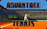 Advantage Tennis DOS Title screen