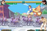 Super Street Fighter II: Turbo Revival Game Boy Advance Chunli jumping-kicks Ryu