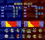 Mega Man Soccer SNES Picking players for a team.