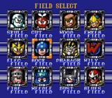 Mega Man Soccer SNES Select a field to play on.