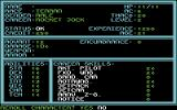 Buck Rogers: Countdown to Doomsday Commodore 64 Rolling a new character