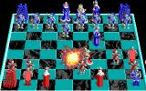 Battle Chess DOS King takes Knight. (EGA)