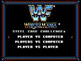 WWF Wrestlemania: Steel Cage Challenge SEGA Master System Main Menu, picking the number of players