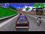 Daytona USA Windows The Beginner track, on the default view