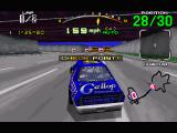 Daytona USA Windows The Expert track is set up like a city freeway system.