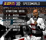 ESPN Speed World Genesis The racers on the starting grid.