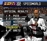 ESPN Speed World Genesis Official results