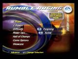Rumble Racing PlayStation 2 Main menu