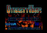 Dynasty Wars Amstrad CPC Title screen