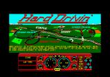 Hard Drivin' Amstrad CPC Title screen and map