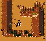 Looney Tunes Collector: Alert! Game Boy Color Leaping over a pit using the lanky rabbits hopping prowess.