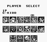 World Heroes 2 JET Game Boy player select